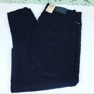 NWT Levi's Wedgie Skinny W32 Sz 14 Black Jeans